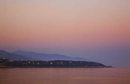 paysage: View of Roquebrune-Cap-Martin. France