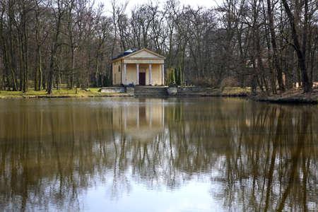 diana: Temple of Diana in Arkadia park. Lowicz county. Poland Stock Photo