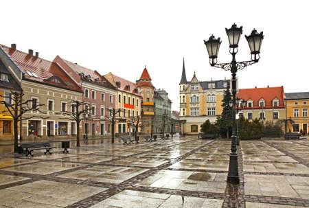 Marketplace in Pszczyna. Poland Zdjęcie Seryjne
