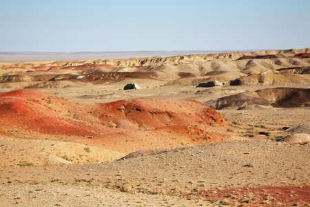 gobi desert: Gobi Desert near Sainshand. Mongolia Stock Photo