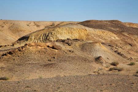 mongolia: Gobi Desert near Sainshand. Mongolia Stock Photo