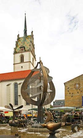 friedrichshafen: Church of st. Nicholas on Town Hall Square in Friedrichshafen. Germany