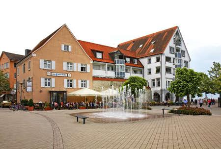 friedrichshafen: Main square in Friedrichshafen. Germany Editorial