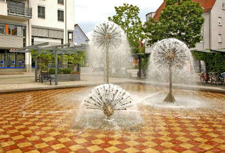 friedrichshafen: Fountain in Friedrichshafen. Germany