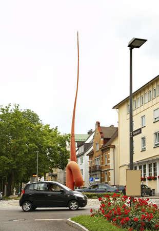 friedrichshafen: Sculpture in Friedrichshafen. Germany
