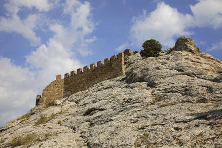 genoese: Old Genoese fortress XI century in Sudak. Crimea. Ukraine