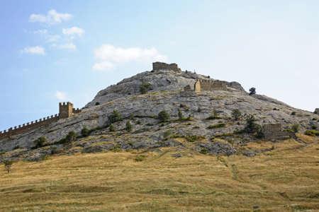 sudak: Old Genoese fortress XI century in Sudak. Crimea. Ukraine