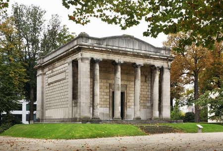 parc: Temple of Human Passions in Parc du Cinquantenaire - Jubelpark. Brussels. Belgium