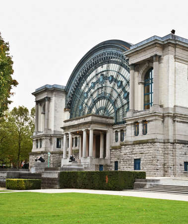 mondial: Palais Mondial - South Hall in Jubelpark in Brussels. Belgium Stock Photo