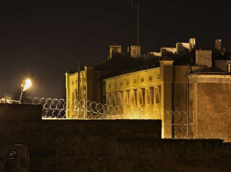 prison: Prison in Walbrzych. Poland Stock Photo