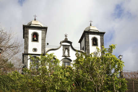 senhora: Nossa Senhora do Monte church in Funchal. Madeira island. Portugal Stock Photo
