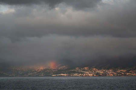 seaboard: View of Funchal. Madeira island. Portugal