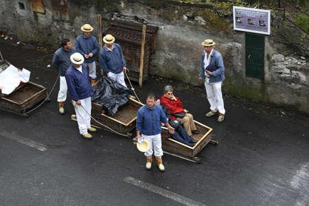 toboggan: Toboggan run from mountain in Funchal. Madeira island. Portugal Editorial