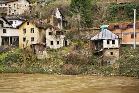herzegovina: Vrbas river in Jajce. Bosnia and Herzegovina Stock Photo
