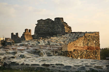 thessaloniki: City walls in Thessaloniki. Greece
