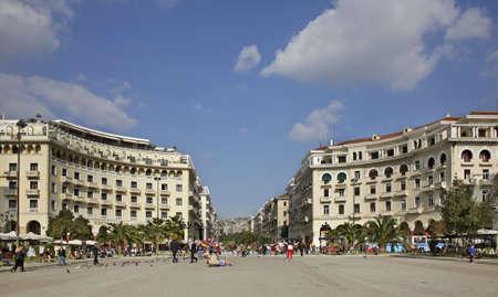 thessaloniki: Aristotelous Square in Thessaloniki. Greece