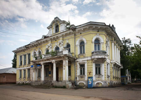 merchant: Mansion of merchant Nevorotin on Big street in Bezhetsk. Russia