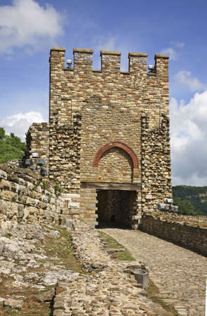 tarnovo: Tsarevets fortress in Veliko Tarnovo. Bulgaria Stock Photo