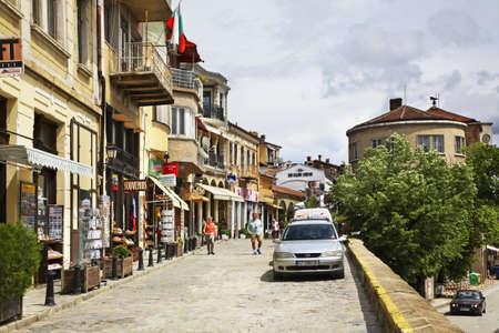 veliko: Rakovski Street in Veliko Tarnovo. Bulgaria