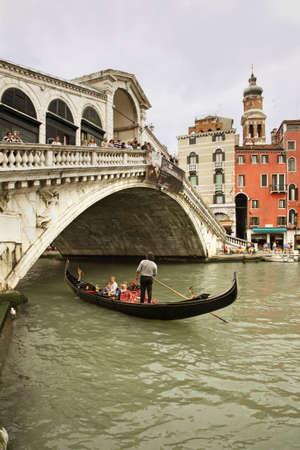 rialto: Rialto Bridge in Venice. Region Veneto. Italy