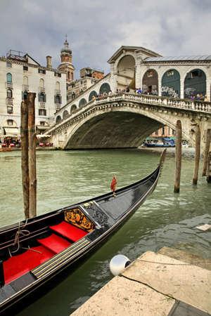 veneto: Rialto Bridge in Venice. Region Veneto. Italy