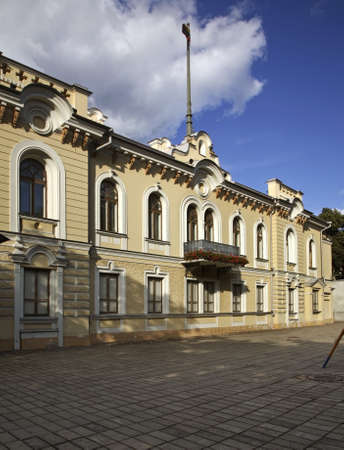 the former: Former presidential palace in Kaunas. Lithuania Editorial