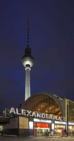 Alexanderplatz station in Berlin. Germany