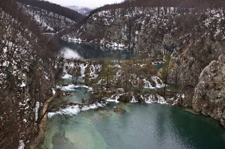 flux: Plitvice Lakes National Park - Plitvicka jezera. Croatia Stock Photo