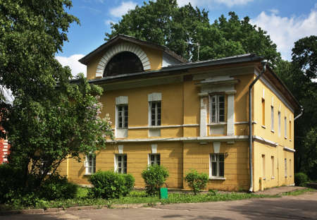 homestead: Old building in Sukhanovo homestead. Moscow region. Russia Stock Photo