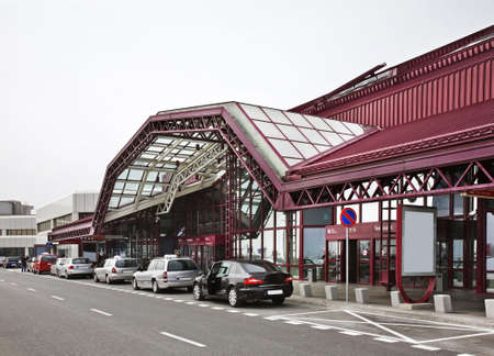 warsaw chopin: Domestic terminal of Warsaw Chopin Airport. Poland Editorial