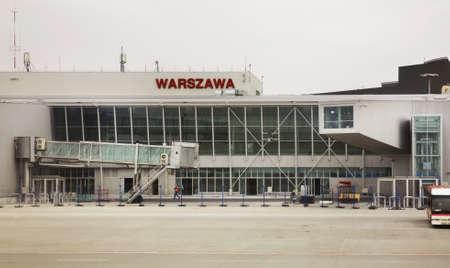 warsaw chopin: International terminal of Warsaw Chopin Airport. Poland Editorial