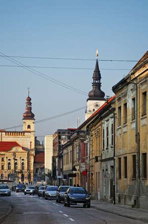 Hviezdoslavova street in Trnava. Slovakia Stock Photo