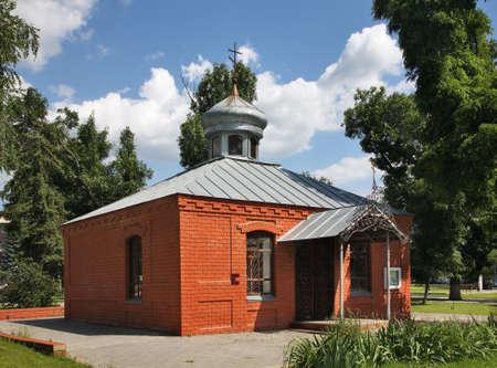 lenin: Church in Lenin park. Uryupinsk. Russia