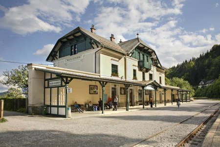 bled: Railway station in Bled. Slovenia