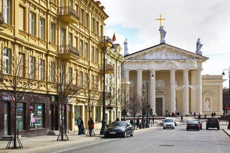 vilnius: Gediminas Avenue in Vilnius. Lithuania
