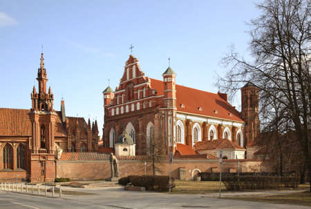 Church of St. Anne and Church of Sts. Francis and Bernard. Vilnius. Lithuania