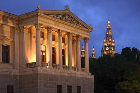 Austrian Parliament Building in Vienna. Austria