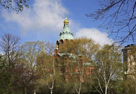 helsinki: Uspenski Cathedral in Helsinki. Finland