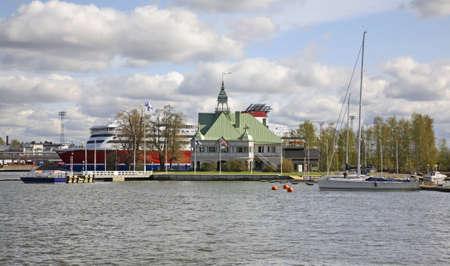finland: Port in Helsinki. Finland
