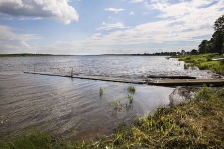 paysage: Onega River in Kargopol. Russia