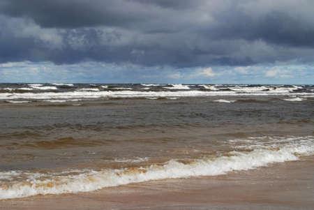 seaboard: Sea in Jurmala. Latvia