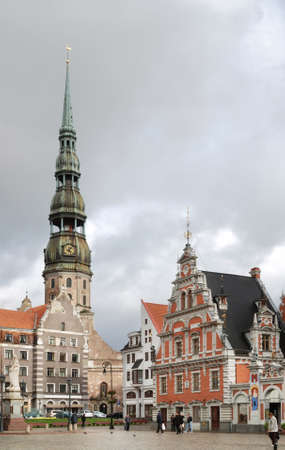 town hall square: Town hall square in Riga. Latvia