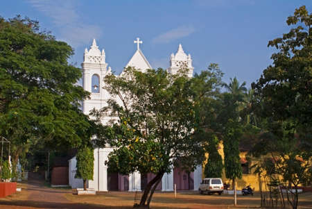 senhora: Nossa Senhora dos Remedios church in Goa. India Stock Photo