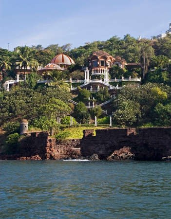 seaboard: View of waterfront in Goa. India Stock Photo
