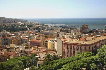 tyrrhenian: Panoramic view of Cagliari. Sardinia. Italy
