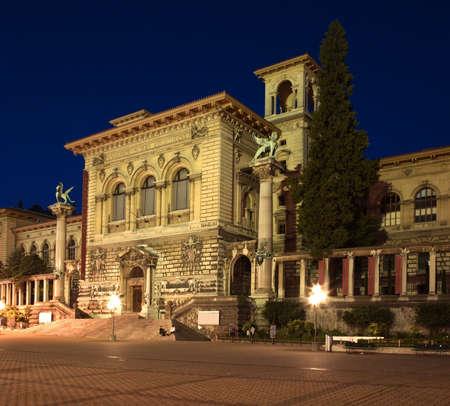 palais: Palais de Rumine in Lausanne. Switzerland Editorial
