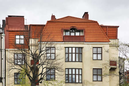 fragment: Fragment of building in Tallinn. Estonia