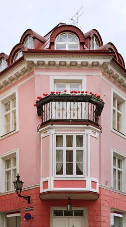Fragment of building in Tallinn. Estonia