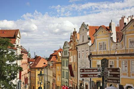 Lesser Town - Mala Strana in Prague. Czech Republic Standard-Bild