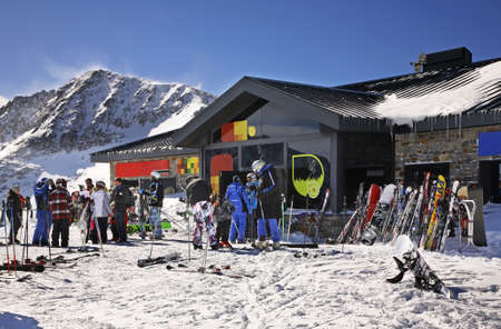 principality: Cafe on peak near Encamp. Principality of Andorra Editorial